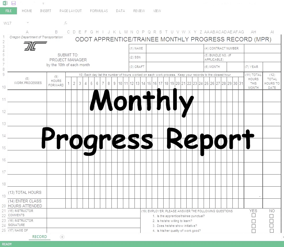 Progress report to supervisor